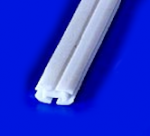 Blake® Style Fluted Flat Drain<BR>Size: 3.5x8mm