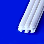 Blake® Style Fluted Flat Drain<BR>Size: 4x11mm